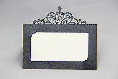 Black Laser Cut Wedding Party Name Table Place Cards Free Stand High Quality - Black Place Cards