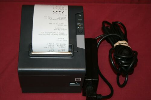 Lot of 10 Epson TM-T88V M244A Printer w/ USB & Serial Interface, power supply