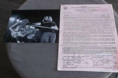 LYNYRD SKYNYRD APRIL 21 1975 ORIGINAL CONCERT CONTRACT SANTA MONICA CIVIC CTR CA
