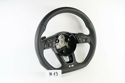 Audi A4 S4 A5 S5 Q5 SQ5 Flat Bottom Leather S-Line Steering Wheel #13