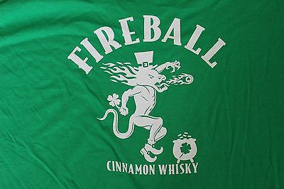 Fireball Cinnamon Whisky Drunk-O-Meter St. Patrick's Day T Shirt MENS XL New