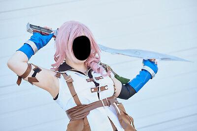 FINAL FANTASY XIII FF 13 FFXIII Lightning Eclair Farron women cosplay - ONE - Lightning Farron Cosplay Kostüm
