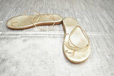 **Ancient Greek Sandals Kansiz Leather Sandal, Women's Size 9/EU 39, Platinum
