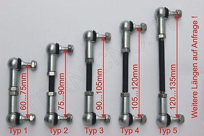 1x Universal Reparatursatz Koppelstange Regelstange 60-135mm - Größe M6 MF01