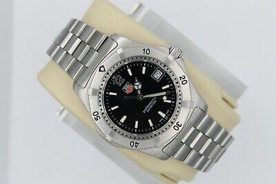 NEW Tag Heuer NWOT 2000 WK1110BA0317 SS PROFESSIONAL Watch Mens Black Mint Box