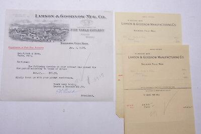 1928 Lamson Goodnow Geo R Park Sons Wayne Pa Signed Ephemera L302f