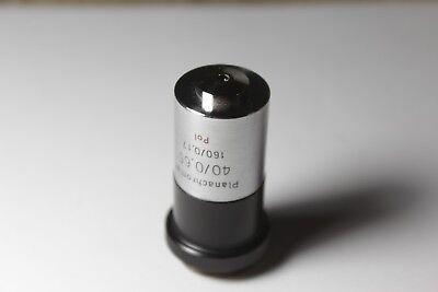 Carl Zeiss Jena Microscope Objective 40x 0.65 160 0.17 Tube Pol Polarising M19