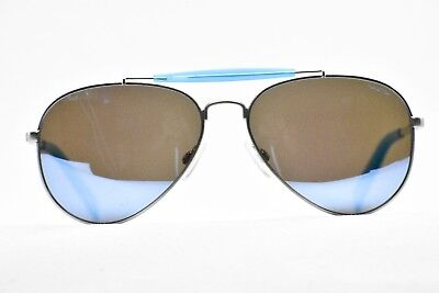 Nautica N5114S 045 Blue Mirror with Silver Sunglasses New Authentic 58