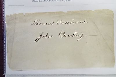 Thomas Brainerd and John Dowling Undated Signatures