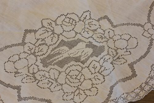 CUTTER CRAFT LOT THREE VICTORIAN LINENS EMBROIDERY CUTWORK LACE BIRDS FLOWERS