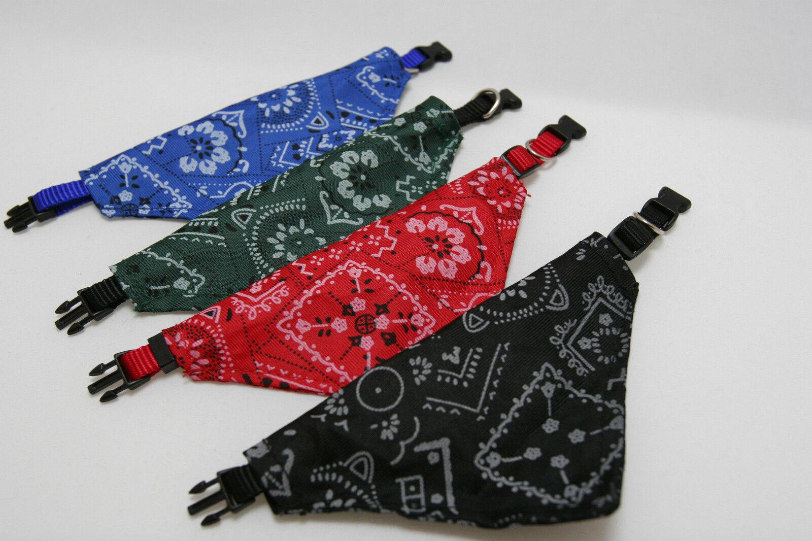 Hundehalsband mit Tuch Bandana, 6 Farbvarianten, Größe - S, M, L, XL.