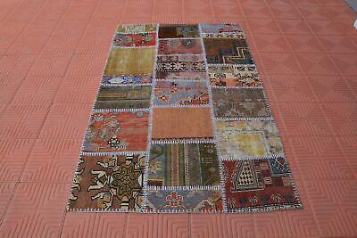 Turkish Rug Oushak Rug Art Rug Colorful Rug Vintage Rug 3006 Salon Rug,Rare Rug Area Rug 6.6/'x9.7/' feet Patchwork Rug,Modern Rug
