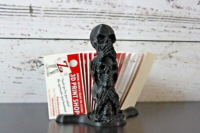 Three Wise Skulls Business Card Holder, Halloween - 3D Printed - Znet3D