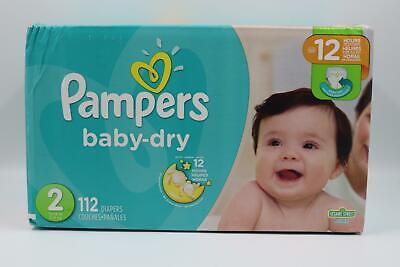 Pampers Baby Dry Diapers Size 2 (12-18 lbs) 112 Count