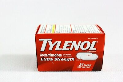 TYLENOL Extra Strength Pain Reliever Fever Reducer Acetaminophen 500mg 24ct 2023