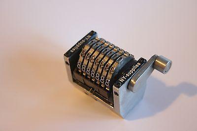 7 Digit Rotary Straight Numbering Machine For Hamada Multilith Ryobi No Drop