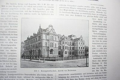 1901 Bauwesen 170 Ägypten Alexandria Pharos hafen 14 S. / Karlsruhe Kunstgewerbe