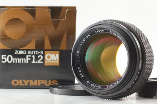 [Top MINT+++ in Box] OLYMPUS OM System Zuiko Auto-S 50mm F1.2 Late Lens Japan