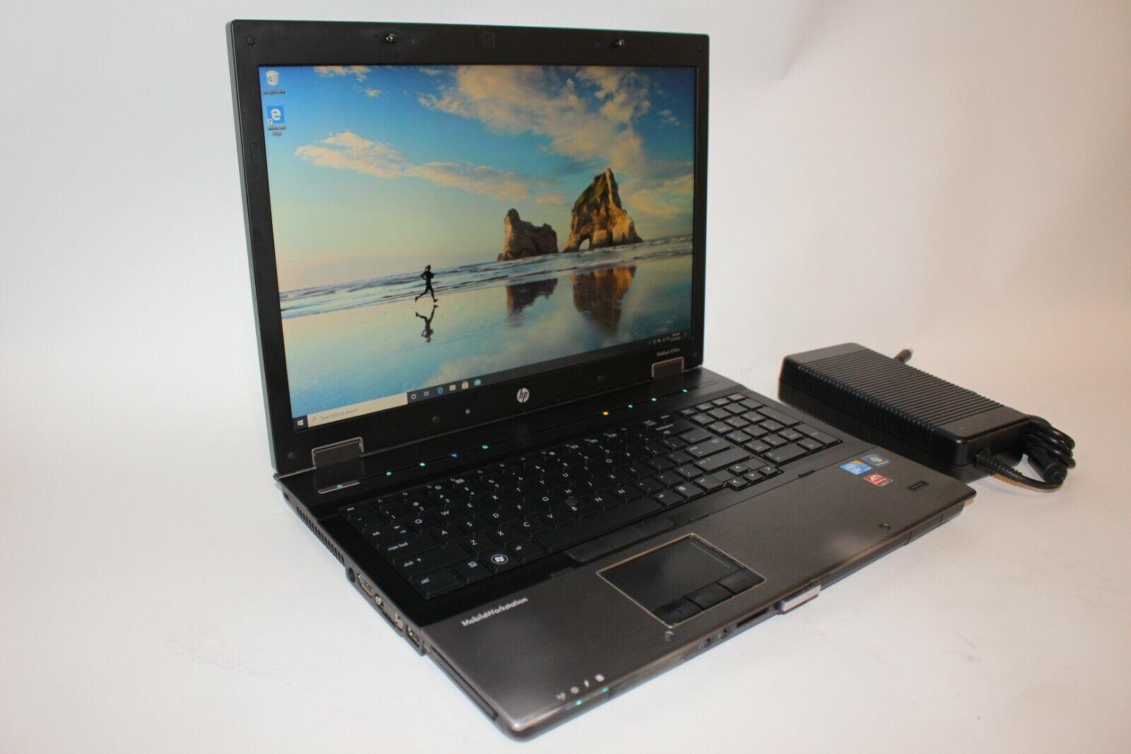 """Laptop Windows - HP ProBook 8740w Core i7 17"""" Windows 10 Pro Laptop 120GB SSD 10GB *Cosmetic Wear"""