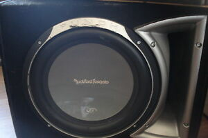 "12"" Rockford Fostgate P3 Sub, with JBL Amp"