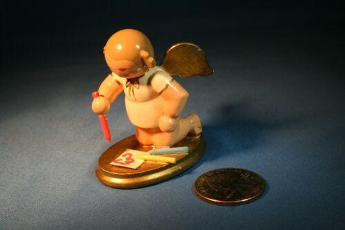 ERZGEBIRGE Ulbricht Playing Angel Germany Christmas Figurine Colored Pencils  #4