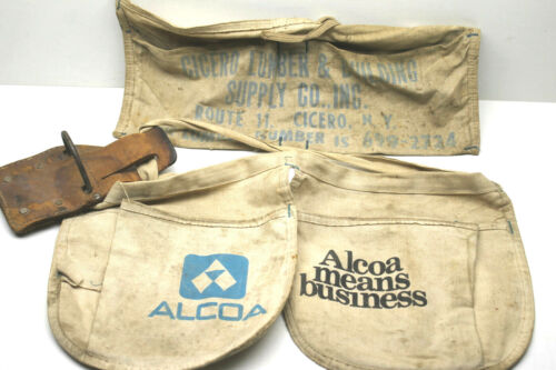 Vintage Mid Century Alcoa Means Steel Promotional Apron+Sears Hammer Loop Pouch