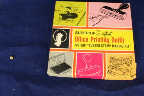 SEMCO SUPERIOR SWIFT SET OFFICE PRINTING OUTFIT INSTANT RUBBER STAMP MAKING KIT