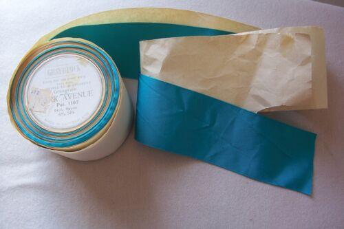 1 yard Vtg Sapphire Grosgrain Silk Rayon Ribbon Made In Switzerland