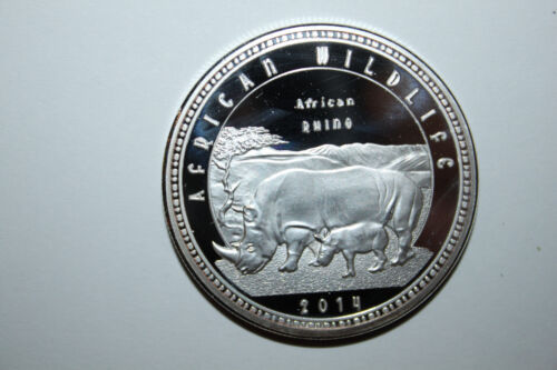 2014 ZAMBIA1000 KWANCHA PROOF COIN AFRICAN WILDLIFE RHINO