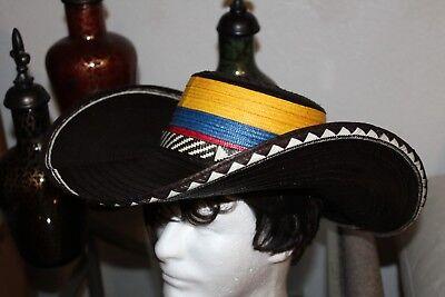 COLOMBIAN HAT~~FINO SOMBRERO VUELTIAO~~COLOMBIA, CUSTOM DESIGN SMALL SIZE - Custom Sombrero