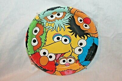 Sesame Street Party Plates (NEW IN PACKAGE SESAME STREET  8- DINNER  PLATES PARTY SUPPLIES)