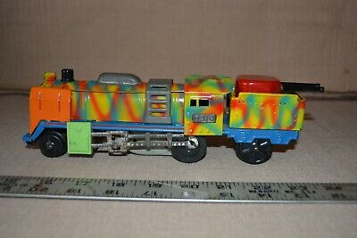 Vintage Original Military Army Train Locomotive O Gauge size with Guns Marx Like