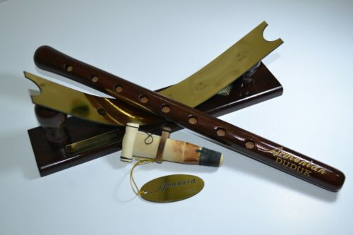 NEW Armenian DUDUK with wooden stand + reed