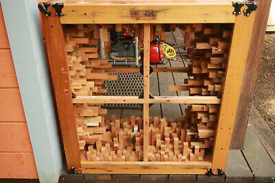 "Cool acoustic cube cabinet thing. used to hold 4 12"" speakers."