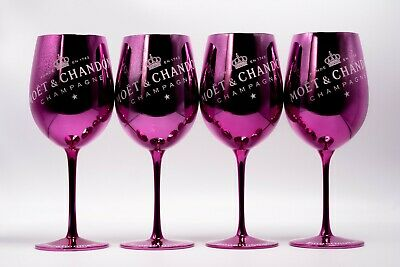 MOET CHANDON Pink Gläser IMPERIAL CHAMPAGNER LIMITED IBIZA EDITION NEU 4 STÜCK