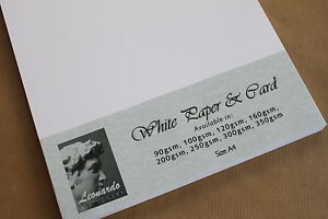 A4 WHITE CARD/PAPER. PREMIUM QUALITY. INKJET/LASER PRINTING. SMOOTH FINISH.