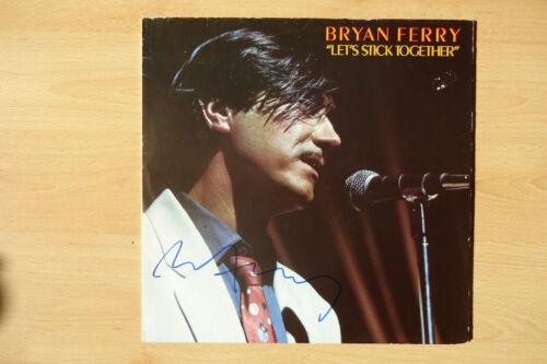 "Bryan Ferry Autogramm signed LP-Cover ""Let´s Stick Together"" Vinyl"