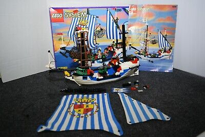 INCOMPLETE Lego Systems #6280 Imperial Pirates Armada Flagship Box Instructions