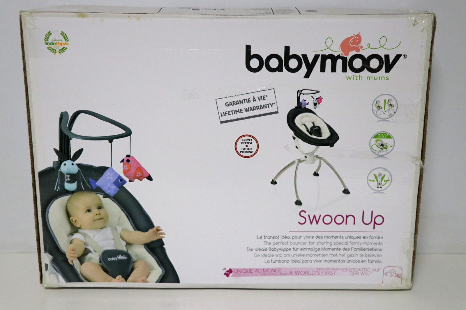 Babymoov A012423 Babywippe / Babyschaukel Swoon up, zink