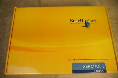 Rosetta Stone German Level 1 Standalone For PC, Mac 2007, used for sale  Petersburg