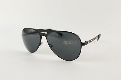 Versace Matte Black Grey Sunglasses VE2189 142587 With CLG Code
