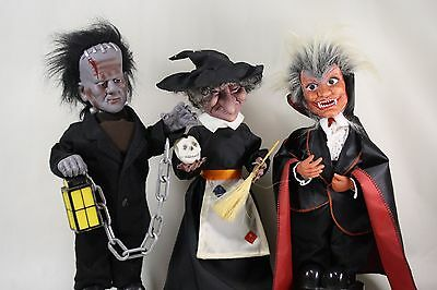 Lot of Animatronic 1980s Halloween Decorations Telco Frankenstein Witch Dracula