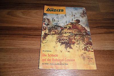 LANDSER 136 -- SCHLACHT auf der HALBINSEL COTENTIN // Original-Druck aus 1960ern