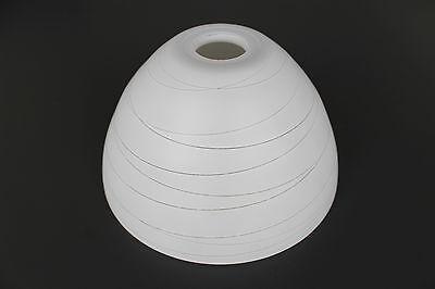 Glas Lampenschirm Ersatzglas Kegel weiß gestreift E14 Lochmaß Fassung ø 30 mm