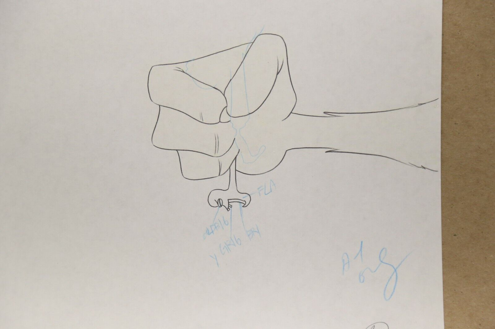 Beetlejuice Original Production Drawing And Cel 43-69 Used Cond. - $34.99