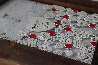Boda Libro de Visitas Gota Corazón Madera Marco Por Frame Company