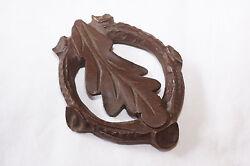 Vintage Oak Leaf Wood German Cuckoo Clock Pendulum Bob AS IS parts NOS