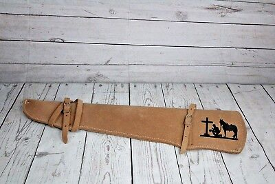 PRAYING COWBOY/HORSE  - Rifle Gun Scabbard Holster Western Saddle or Motorcycle for sale  Russellville