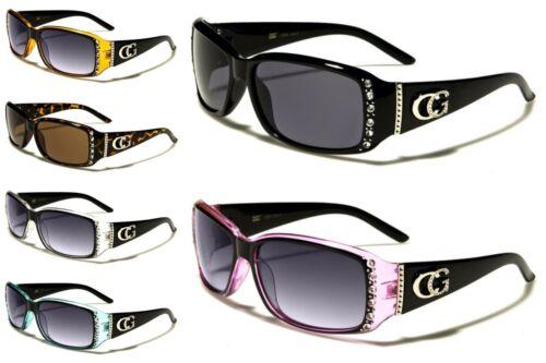 CG Eyewear Sunglasses Designer Fashion With Rhinestones Plastic Frames For Women