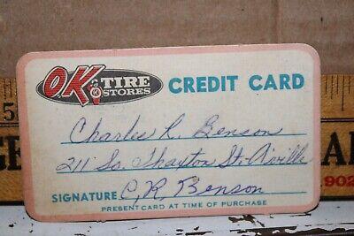 Vintage OK Tire Stores Credit Card Albertville Alabama Rare